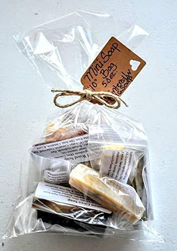 10 Handmade Organic Soap Samples/Natural Shower Soap Favors/Rustic Gift For Her/Vegan Bar Soap/Mother's Day Gift