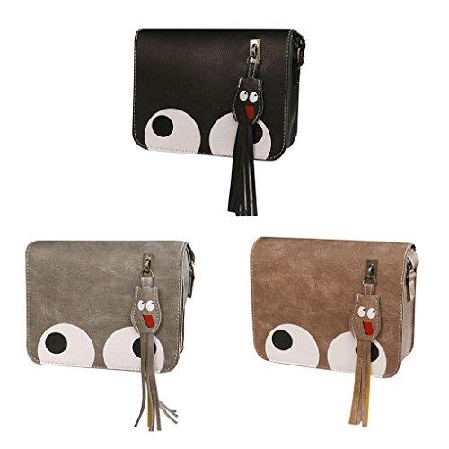 KOROWA Sacchetti di spalla di cuoio dell'unità di elaborazione Square Big Pattern delle donne dei sacchetti della borsa del nappa