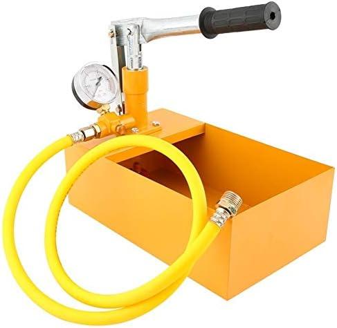 """Aluminium 2,5 MPa 25KG Wasserdruck Tester Handbuch Hydraulische Testpumpe Maschine mit G1 / 2"""" Schlauch Einfach Zu Benutzen"""