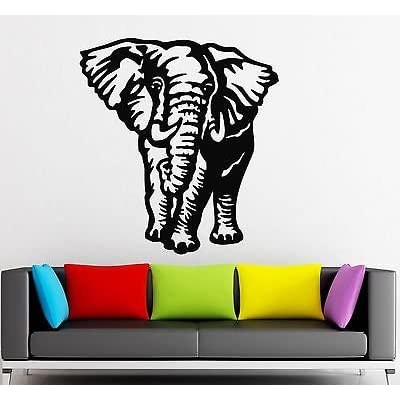 Wall Stickers Vinyl Decal Nursery Elephant Animal Kids Room (vs813): Office Products