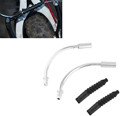 NSH 1 Pair Bike V Brake Noodles Cable Guide Bend Pipe with Plastic Boots Sleeves Set Brake Cable Protect Hose Accessories new brand