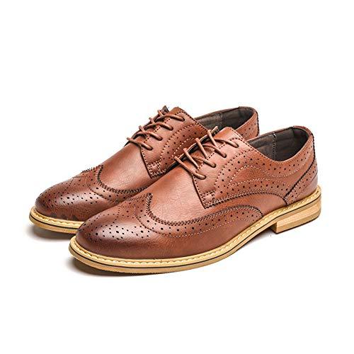 in EU stampe e Business 2018 scarpe Pelle Color classico Dimensione vivere 44 compagnia Scarpe Marrone Uomo casa comodo Jiuyue da leggero Oxford per e Marrone brogue shoes camminare uomo paPnqWv