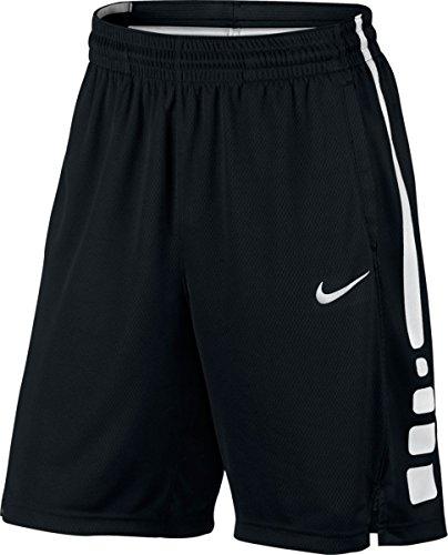 Nike Men's Elite Basketball Short Black/White Size Large (Nike Mens Elite Dri Fit Basketball 9 Shorts)