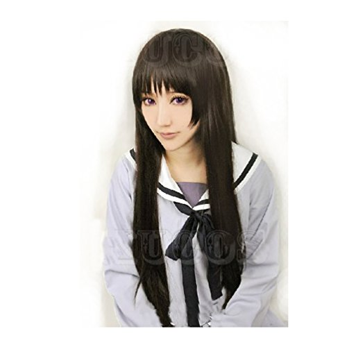 [Cosplay Long Wig Black Hair for Noragami Anime Iki Hiyori Costume] (Noragami Nora Costume)