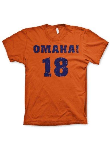 Omaha! Peyton Manning Denver Broncos Mens T-shirt  1565 (Large ... 3595c9c50