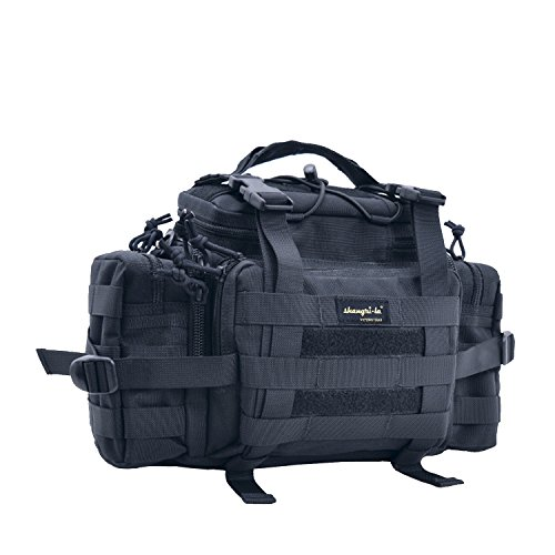 Compact Gear Bag - SHANGRI-LA Tactical Assault Gear Sling Pack Range Bag Hiking Fanny Pack Waist Bag Shoulder Backpack EDC Camera Bag MOLLE Modular Deployment Compact Utility Carry Bag Heavy Duty with Shoulder Strap