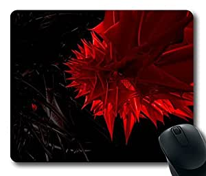 """Red Spikes Abstract Black Picture DIY Printed Custom Rectangle Mouse Pad Oblong Gaming Mousepad in 220mm*180mm*3mm (9""""*7"""") -1023091"""