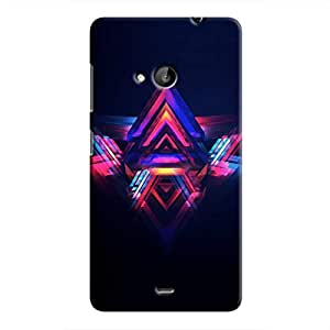 Cover It Up - Abstract Red&Blue Lumia 535 Hard Case