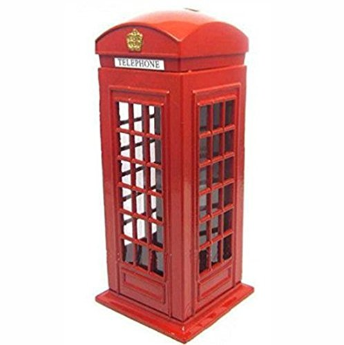 Piggy Large Coin (Red Telephone Booth Piggy Bank , London Piggy Bank ,Postal Money Pot Strange New Creative Safe Coin Money Box.)