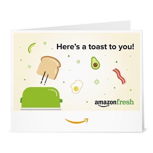 Amazon Fresh Toast to You gift card link image