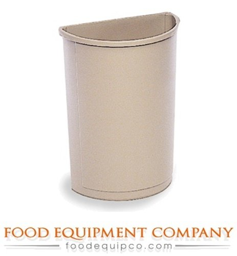Rubbermaid FG352000BEIG Garbage Can Untouchable Container half round 21 gallon