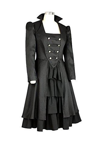 Chic Star - Robe - Cocktail - Manches Longues - Femme noir Schwarz