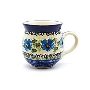 Polish Pottery Mug – 12 Oz. Bubble – Morning Glory
