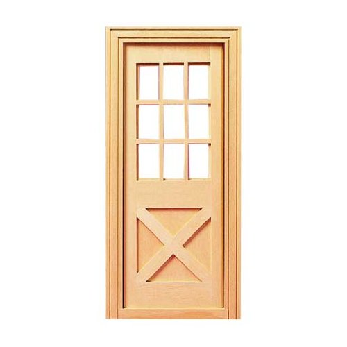 Dollhouse Miniature Playscale Crossbuck Exterior - Door Crossbuck