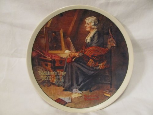 """Norman Rockwell 1979 Mother's Day Collector Plate """"Reflections"""""""