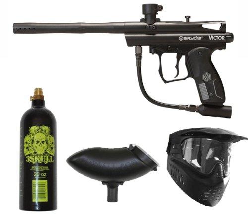 (Spyder Paintball Victor Gun Marker Package (Black))