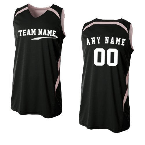 - A4 Sportswear Black/White Adult Large Custom Front and/or Back Reversible Basketball Uniform Jersey Tank Top
