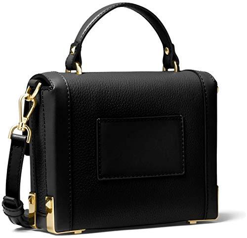 9f7cbdae3144 Amazon.com  Michael Kors Jayne Small Pebble Leather Trunk Bag - Black   Clothing