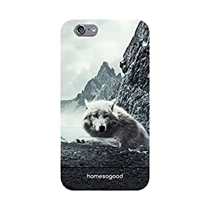 HomeSoGood Mountain Wolf Grey 3D Mobile Case For iPhone 6 (Back Cover)