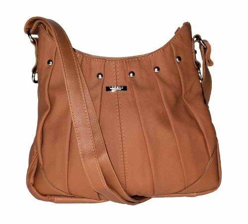 On Trend Ladies Leather Handbag Bag Latest Style - Black, Brown, Tan or Red Tan
