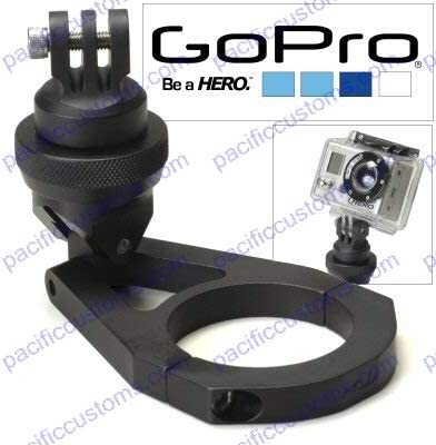 Pacific Customs Billet Aluminum Clamp On Mount for 1.0 Diameter Tube Compatible with Gopro Hero HD Video Camera