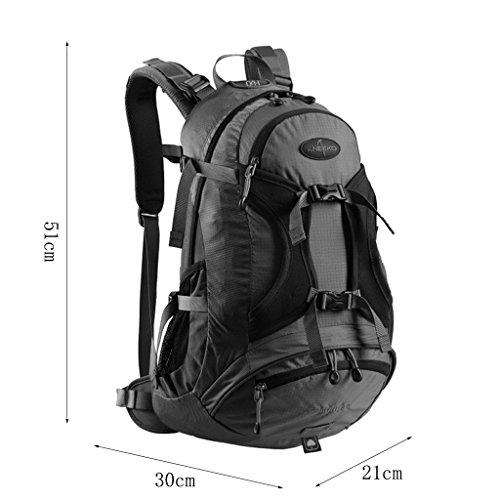 AMOS Alto al aire libre alpinismo bolso hombro hombres y mujeres bolsa de viaje de gran capacidad bolso de viaje mochila 30L ( Color : Plum red ) Rojo