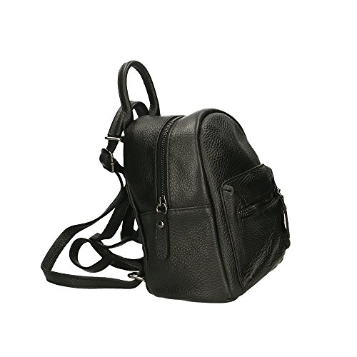 Made Genuine Bag Leather In Woman Bag Black 17x20x11 Italy Aren Cm nTpXRR