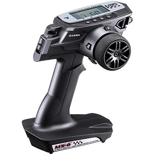 Sanwa Airtronics MX-6 2.4GHz FH-E 3 Channel 2.4GHz Radio Transmitter System w/RX-391W (RX391W) Waterproof Receiver, no servos