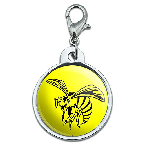 chrome-plated-metal-small-pet-id-dog-cat-tag-insects-ladybug-butterfly-dragonfly-bee-wasp-hornet