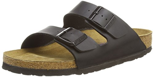 Birkenstock womens Arizona in Black from Birko-Flor Sandals 41.0 EU - Slides Arizona Mens