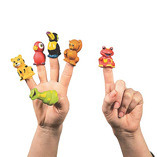 Fun Express Rain Forest Animal Finger Puppets (Lot of 24)