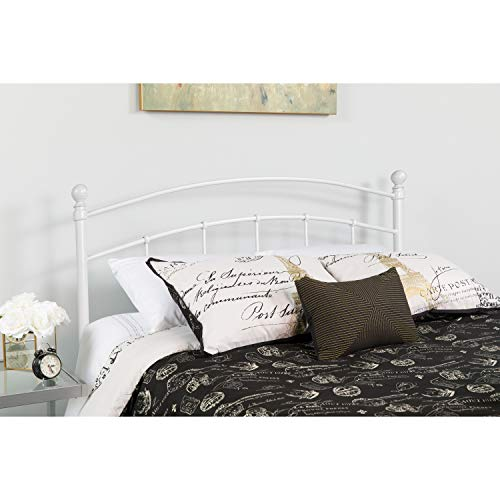 Flash Furniture Woodstock Decorative White Metal Full Size Headboard