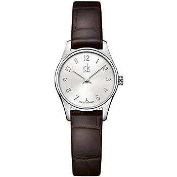 Calvin Klein K4D231G6 Ladies Classic Silver Brown Watch