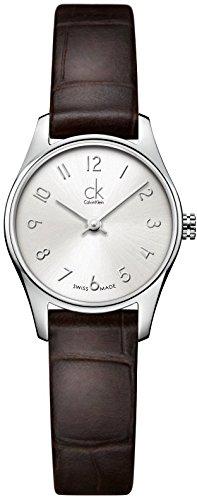 Calvin Klein K4D231G6 Ladies Classic Silver Brown Watch by Calvin Klein