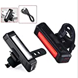 Maxfind Ultra Bright Skateboard Light 168T USB Rechargeable Bicycle Tail Light. Red High Intensity Rear LED Accessories Fits On Any Road Board & Bikes, Helmets Safety Flashlight