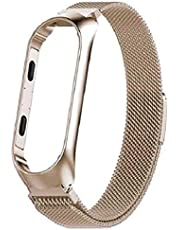 Gold Strap For Xiaomi Mi Band 4 Magnet Metal Stainless Steel , 2724961353361