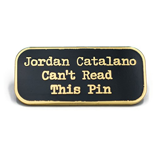 Jordan Catalano Cant Read This Pin Enamel Lapel Pin (Gold) (Jordan Clothing For Teens)