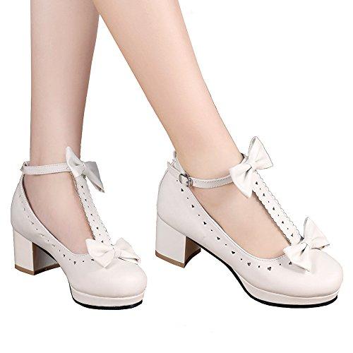 GetmorebeautyUpdate - Zapatos de tacón  mujer blanco