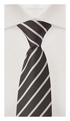 Cravate de Fabio Farini en noire-grise