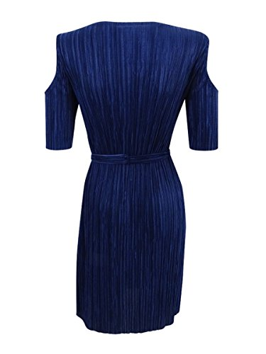 Dress Navy Shoulder Apparel Dark Petite Connected Navy Pleated Cold zqxa6RRnw