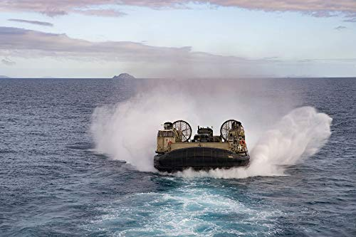 Home Comforts Canvas Print United States Navy Lcac USN Landing Craft Air Cushion Vivid Imagery Stretched Canvas 32 x ()