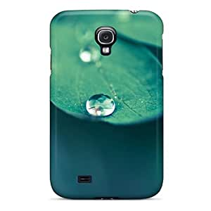 Fashionable Style Case Cover Skin For Galaxy S4- Green Leaves Plants Water Drops Macro