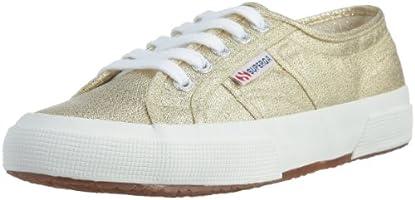 Superga 2750-LAMEW Kadın Spor Ayakkabı, Sarı/Altın, 40 Numara