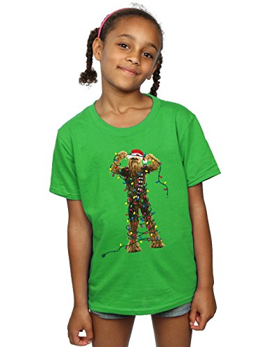 Irish Girl Light T-shirt - Star Wars Girls Chewbacca Christmas Lights T-Shirt 9-11 Years Irish Green