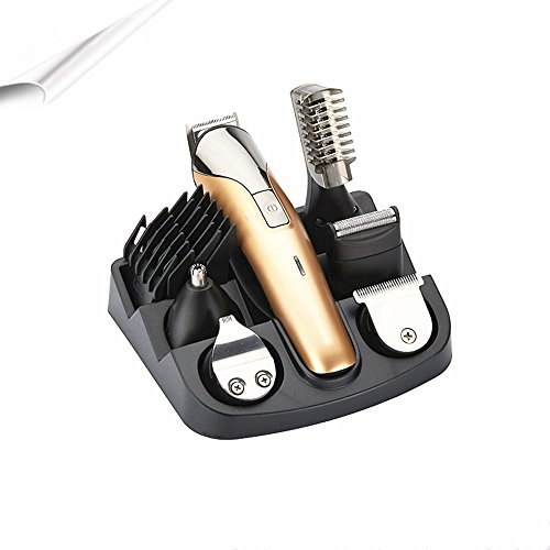 Charging type multifunctional suit trim vibrissa device waterproof mute barber electric hair clippers razor Golden