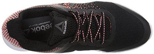 Reebok Women's Instalite Run Track Shoe, Black Black/White/Sour Melon