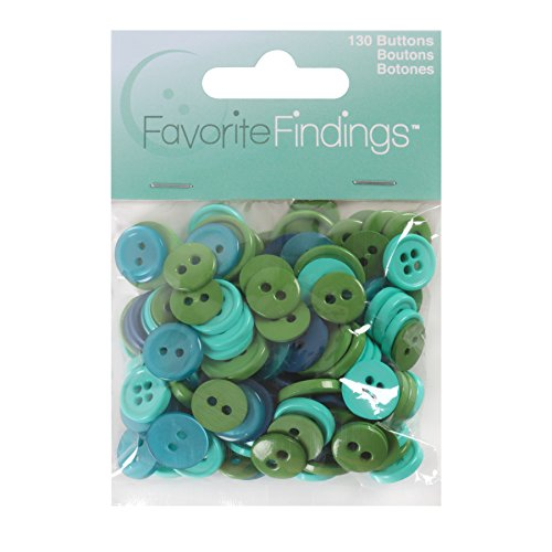 Blumenthal Lansing Basic Buttons Assorted Sizes, 130/Pkg, Ocean