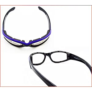 Motorcycle Night Glasses Foam Padded for Women with Purple Frames and Safety Polycarbonate Clear Lenses. Free Microfiber Cleaning Case