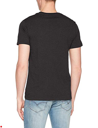 Noir T shirt Number Batwing Heather black Levi's Homme 3 0010 pHUYxAf