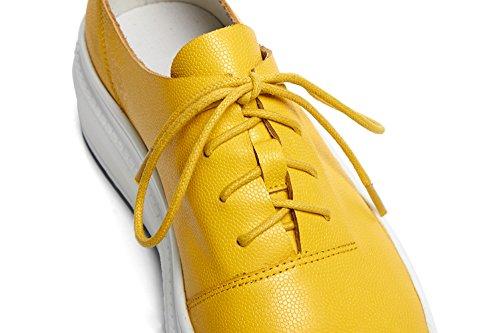 Yellow Coins De Chaussures Lacer 38 WSXY KJJDE Plateformes À Q1407 Femme Respirant Semelles UqwzPwg